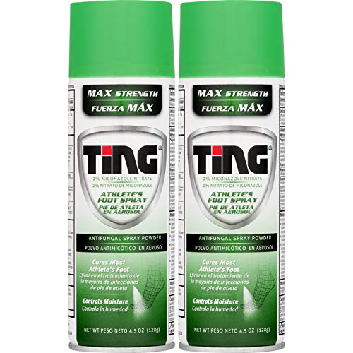 Ting Maximum Strength Athlete's Foot Spray, 4.5 Ounces each (Value Pack of 2)