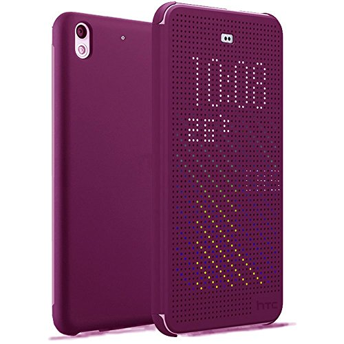 HTC Desire 626 626s Funda Dot View Flip Cover Morado Smart Case