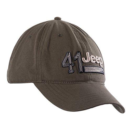 Jeep Herren Mütze mit Stoffapplikation der Zahl 41 J8S Kopfbedeckungen, Baseball Cap, Military/Dark Grey, Uni
