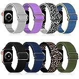 OMEE Cinturino elastico in nylon compatibile con Apple Watch 44mm/40mm/38mm/42mm, elastico regolabile intrecciato Sport Elastici da donna e uomo cinturino per iWatch Series 7/6/5/4/3/2/1 SE (38/40mm)