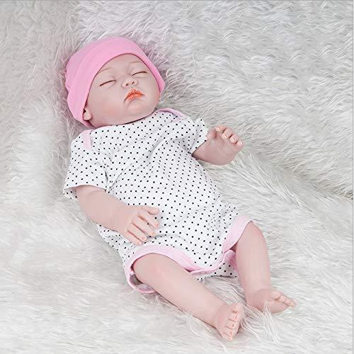 YAHAO 20-Zoll-lebensgroße Simulation Puppe Spielzeug 52 cm Wiedergeburt Neugeborenes Baby Puppe Mädchen Funktionelle Baby Doll