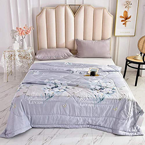XYSQWZ Summer Easy Care Duvet Cover Quilt Bedding Set Double (Queen,200 * 230CM),Printed Washed Cotton Soft Air Condition Quilt For Bed,Bedspread for Adults