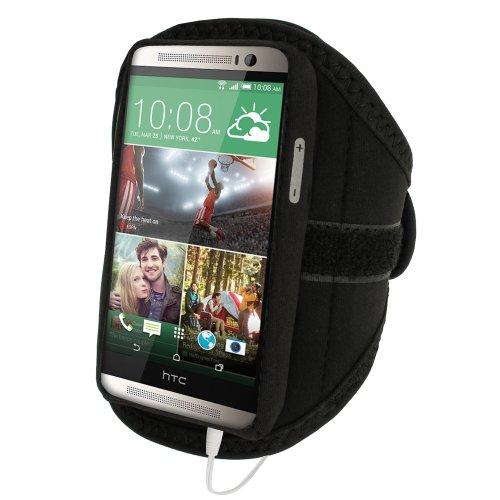 iGadgitz u2852Stirnband-Arme Sport Kompatibel mit HTC One M8Armband–Schwarz