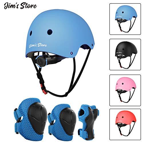 JIM\'S STORE Helm Set für Kinder Knieschoner Ellenbogenschoner Handschutz Verstellbarer Helm Schonerset für Inliner Skateboard Roller Radfahren Outdoor Sport Schutzausrüstung Protektoren Schützer