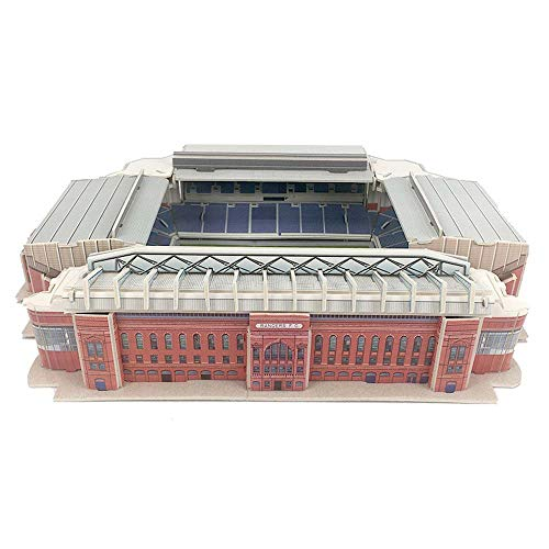 JXS 3D Puzzle Modelle Fußballstadion -Glasgow Rangers FC Stadium DIY Spielzeug (Ebrox Stadion)