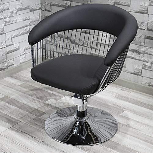 Mode Barbershop Chaise coiffure Salon de coiffure spécial Ins Chaise-simple coupe de cheveux de levage japonais Chaise Rétro (Color : Black)
