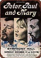 ブリキ看板1965ピーターポールとメアリーニュージャージー州ヴィンテージ収集壁アート