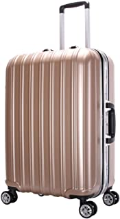 GLJJQMY Trolley Case for Men and Women Suitcase 20-inch Universal Wheel Business Boarding Multi-Color Optional Trolley case (Color : Champagne Gold, Size : 24 inch)