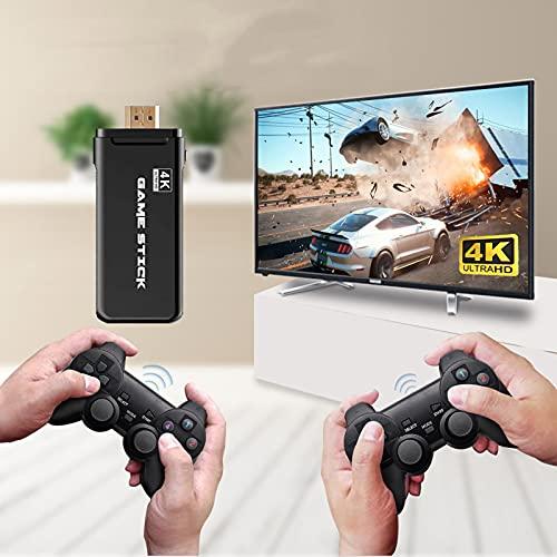 KINMRIS Consola de videojuegos 4K Ultra para PS1/GBA/SNES/MAME Retro TV consola de juegos compatible con HDMI 64GB 10000 Juegos Video Game Stick