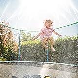 Lurowo Arroseur de Trampoline, 15m(49ft) Arroseur de Parc Aquatique de Trampoline Extérieur, Accessoires de Trampoline de Jeux d'eau d'été, Jardin Jouet d'eau pour Garçons Filles