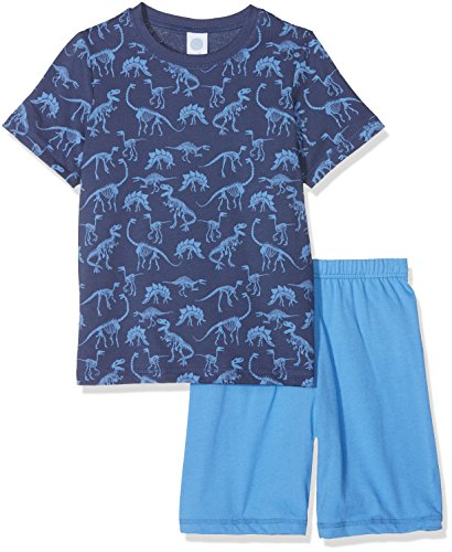 Sanetta Sanetta Baby-Jungen 232106 Zweiteiliger Schlafanzug, Blau (Washed Blue 50110), 92