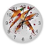 Reloj silencioso de 10 pulgadas para decoración de paredes, relojes de madera vintage que no hacen tictac, fáciles de leer para oficina / cocina / dormitorio / sala de estar / aula, reloj de Halloween