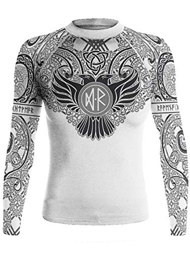 Raven Fightwear Nordic White Women Compression Shirt Long Sleeve BJJ Martial Arts Base Layer Running Workout No Gi Yoga Pilates