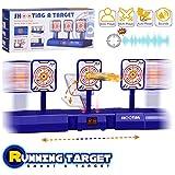 ELECTRIC SCORING TARGET: Die digitale Anzeigetafel verfolgt und zeigt Ergebnisse. Sie fällt beim Auftreffen des Ziels nach unten und hebt drei Ziele an, um einen Punkt zu erhalten. Perfekt für Nerf N-Strike-Geschütze der Elite-Serie, der Nerf Mega-Se...