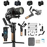 Feiyu Tech AK2000S 3 Axis Handheld Gimbal Stabilizer with Smart Touch Panel for Sony a9 a7 ii A6500 Series Canon 5D Panasonic GH5 GH4 Nikon D850 Mirrorless and DSLR Digital Camera 4.5 Lbs Max Payload
