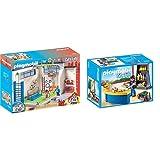 PLAYMOBIL City Life Gimnasio, a Partir de 5 Años (9454) + Cantina Juguete, Multicolor (geobra Brandstätter 9457) , Color, Modelo Surtido