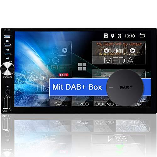 "Tristan Auron BT2D7026A Android 10.0 Autoradio + DAB Plus - 7\"" Touchscreen I mit Navi GPS Bluetooth Freisprecheinrichtung I 32GB WiFi USB SD OBD 2 DIN"