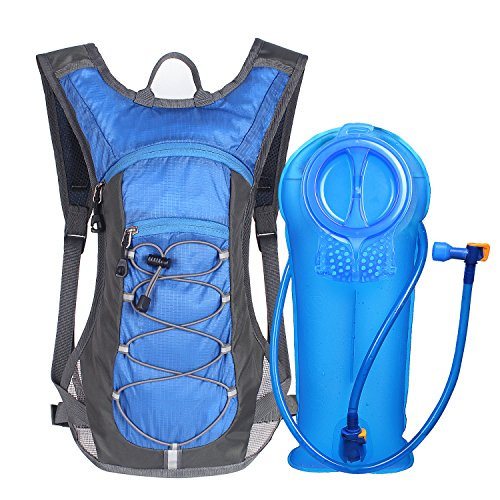 Unigear Hydration Pack Backpack with 70 oz 2L Water Bladder for Running, Hiking, Cycling, Climbing, Camping, Biking (Blue)