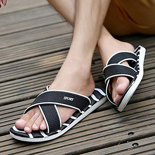 B/N Girls flip Flops,Men's Slippers, Indoor Bathroom travel Sandals, Men's Sandals Women's Sandals-Black_41