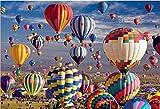 Puzzle Adulto De Madera 1000 Piezascolorido Globo Aerostático Decoración Moderna Para El Hogar, Regalo De Cumpleaños Único