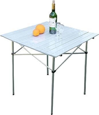 HUO,Table Table à Manger extérieure en Aluminium Table Pliante Portable et Simple Multifonctionnel (Taille : Table)