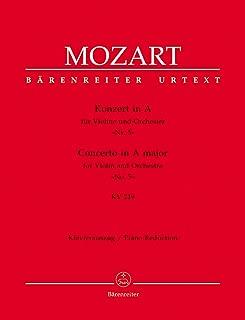 Mozart: Violin Concerto No. 5 in A Major, K. 219 (Solo Part with Reduction)
