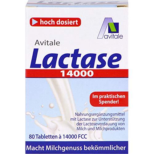 Avitale Lactase 14000 Tabletten, 80 pc Tablettes