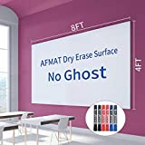 Dry Erase Whiteboard Paper, Large White Board Stickers for Wall, 8x4ft Dry Erase Paper Roll with Adhesive Backing, Perfect Replacement for White Board, No Ghost After 60 Days, 6 Much Better Markers