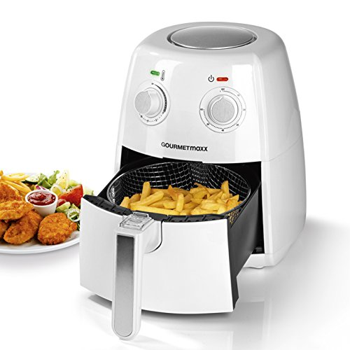 GOURMETmaxx Fritteuse 1300-1500W Aire Caliente-Funktion Blanco