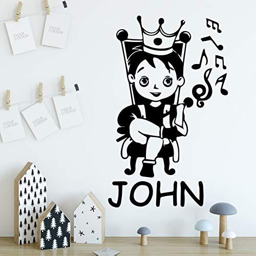 HUIZHANG 30 cm x 48 cm Moda principito Nombre personalizado Vinilo Etiqueta de la pared Decoración para el hogar wallStickers para habitación de niños