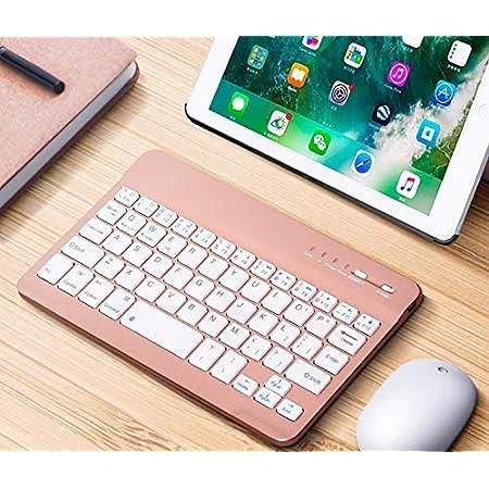 MeterMall Teclado Bluetooth Portátil Mini Inalámbrico para Tablet PC Smartphone iPad