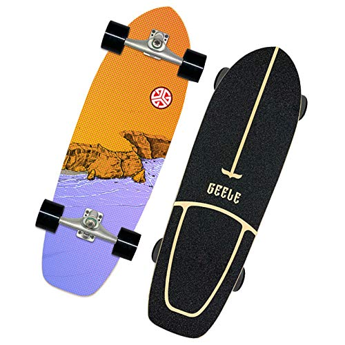 VOMI Skateboard Retro Cruiser 31 Zoll Board Ahornholz Pennyboard Langstrecken Skate, Vintage Geschenk für Erwachsene Anfänger Professionel Kinder Jungen Mädchen