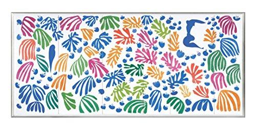 BaikalGallery Henri Matisse EL PAPAGAYO Y LA Sirena Cuadro (P2300)-Moldura de Aluminio Mate Color Plata - Montaje en Panel Adhesivo (Foam)- Laminado en Mate (Sin Cristal) (45x100cm)