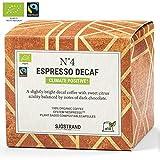 Sjostrand N4 Decaf Espresso | Bio Kaffeekapseln Nespresso kompatibel, 10 Kapseln | 100% kompostierbar, 0% Aluminium | Fairtrade, umweltfreundlich & nachhaltig…