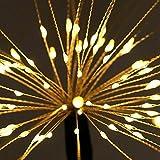 Lampada solare da giardino con 150 LED, impermeabile, 2 modalità di illuminazione, fai da...