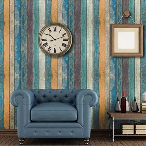 libby-nice Large Stripe Brick Wall Stickers, The Wall Living Room Bar Decor Self Adhesive,wallpaper Creative Vintage Poster