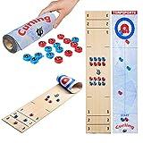 Seraphicar Shuffleboard Pucks, juegos de rizos, 2 en 1 juegos con 16 pucks para portátiles de la familia de juegos de mesa para familias, tabletas, entrenamiento familiar, fiestas familiares