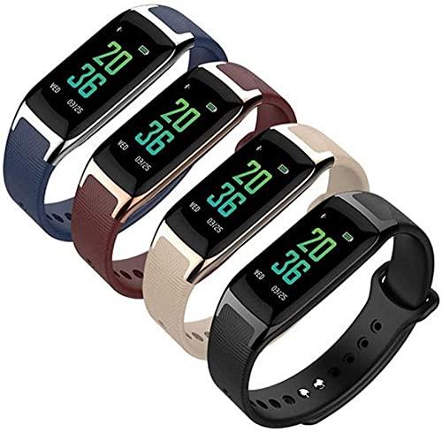 Smart Watch Smart Band Smart Wristband Hombres Mujeres Pulsera Ritmo Cardíaco Presión Arterial Pulsera Inteligente Fitness Tracker Blanco Oro Marrón Oro-Negro