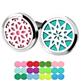 ttstar 2pcs Aromatherapy Essential Oil Car Diffuser Locket Vent Clips with 24 Refill Pads