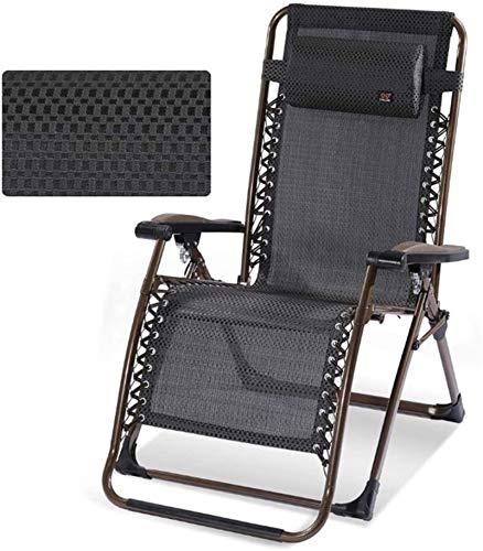 Sillón Sillas de jardín plegables de tumbonas Conjunto de 2 tumbonas reclinables plegables, silla de cubierta de tumbonas ensanchadas, tumbonas plegables, sillón, sillón, oficina, descanso de almuerzo