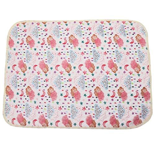 weichuang Cambiador de pañales de 50 x 70 cm, portátil, plegable, lavable, impermeable, colchón, alfombrilla para orina, alfombrilla para jugar al suelo, cambiador (color: estilo 1)