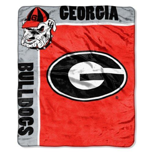 georgia bulldog blanket set - 3
