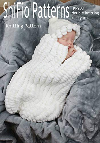 Knitting Pattern - KP203 - baby cocoon, papoose 0-3, 3-6. 6-9 mths - UK Terminology (English Edition)