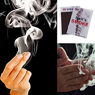 Magicians Mystic 2pc Hell's Smoke Gimmick Prop for Close-up Finger Magic Trick
