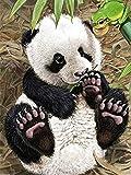 Ricamo panda punto croce pittura diamante animale 5D strass mosaico decorazione della casa pittura diamante A3 30x40cm