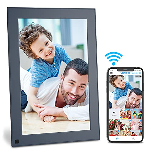 FULLJA WiFi Digital Picture Frame 10 Inch Touch Screen IPS HD Dispaly,Smart Electronic Photo Frame with 16GB Storage, Auto-Rotate, Motion Sensor, Share Photos and Videos via App, Email, Cloud
