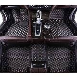 QWERQF Alfombrillas de Coche de Cuero Personalizadas Alfombrilla de Suelo de Coche Alfombrilla de pie,para Aston Martin DB11 DB9 DBS Rapide Vanquish Blackwithred