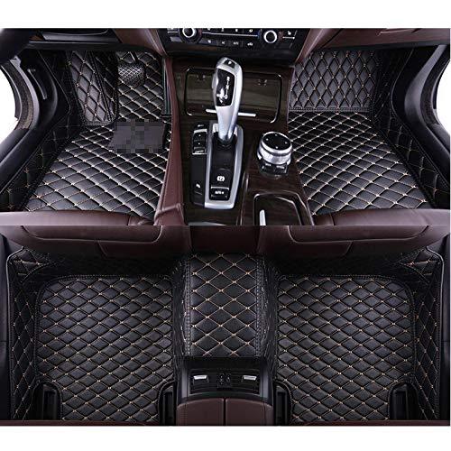 QWERQF Leder Auto Fußmatten Auto Styling Auto Zubehör Auto Teppich Custom Fußmatten,Für Hummer H2 H3 Kaffee