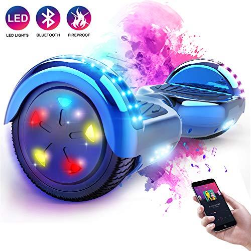 MARKBOARD 6.5zoll Bluetooth Hover Scooter Board Elektro Scooter Self Balance Board E-Balance Scooter - LED Lichter - EU Sicherheitsstandards