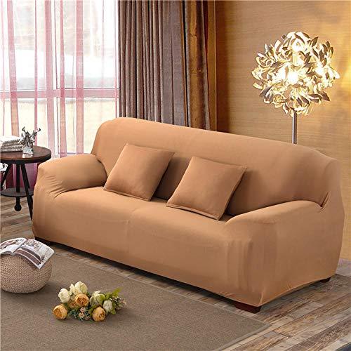 CC.Stars Sofá Proteger Cubre sofá 1 2 3 Plazas,Funda de sofá elástica, Funda de sofá de Tela elástica de 1 Pieza, Almohadilla de protección para Muebles de sillón-Camel_145-185cm